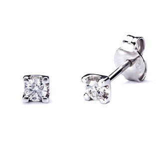 Pendientes 4 Grapas con Diamantes 0,20 Quilates