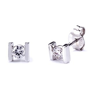 Pendientes 2 Barras con Diamantes 0,30 Quilates